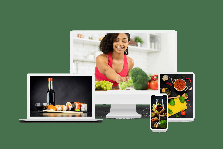 Designcafe complilatie devices met lekker eten