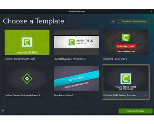 Camtasia 2020 Template Manager