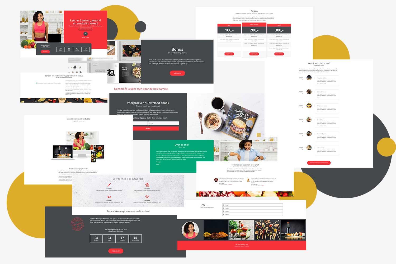 Designcafe Compositie Landingpage Foodie